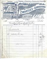 BRUGGE, ZWARTJES GEBROEDERS, FABRIEK VAN GEBREIDE EN OPGEMAAKTE GOEDEREN, 1949 - Belgique