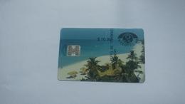 Cuba-primera Emision-($10.00)-tirage-50.000-used Card+1card Prepiad Free - Cuba
