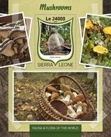 Sierra Leone, 2016. [srl16804] Mushrooms (s/s+block) - Briefmarken