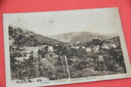 Genova Fossa Tercesi Castelli Becchi 1934 + Timbro Frazionario Ed. Gardella - Italy