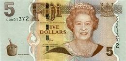 FIJI 5 DOLLARS ND (2011) P-110b UNC  [FJ521b] - Fidji
