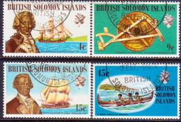 BRITISH SOLOMON ISLANDS 1972 SG #215-18 Compl.set Used Ships And Navigators (2nd Series) - British Solomon Islands (...-1978)