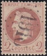 France  .   Yvert   .     26       .        O          .        Oblitéré - 1863-1870 Napoleon III With Laurels