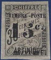 """France Colonies Martinique N°22 ( ) Neuf Variété M Absent  """"ARTINIQUE"""" TTB & RR - Martinique (1886-1947)"""