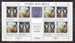 Moldavia MNH Michel Nr 94/95 Sheet From 1993 CEPT / Catw 16.00 EUR - Moldavië
