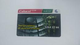 Cuba-etecsa Cubacel G.s.m.-(10.00cuc)-used Card+1card Prepiad Free - Kuba
