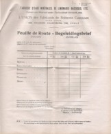 FEUILLE DE ROUTE De L'union Des Fabricants De Boissons Gazeuses 766 Chaussée D'Alsemberg UCCLE - Belgique