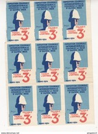 Au Plus Rapide Bloc De 9 Ticket D'entrée Exposition Coloniale Paris 1931 - Tickets D'entrée