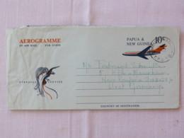 Papua New Guinea 1971 Aerogramme To Germany - Plane - Bird - Papua-Neuguinea