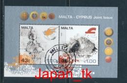 MALTA Mi. Nr. Block 43 Einführung Der Euro-Währung - Europa Mitläufer - 2008 - Used - Europa-CEPT