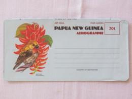 Papua New Guinea 1975 Aerogramme Unused - Flower - Bird - Papua-Neuguinea