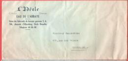 Enveloppe à En Tête L'Idéale Citrob Orange Eau De L'Abbaye Chaussée D'Alsemberg 766 à UCCLE - 1950 - ...