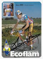 CARTE CYCLISME MARCO ZEN TEAM ECOFLAN - Cyclisme