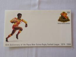 Papua New Guinea 1984 Unused Stationery Cover - Sport Rugby - Papua-Neuguinea