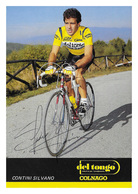 CARTE CYCLISME SILVANO CONTINI SIGNEE TEAM DEL TONGO 1987 - Cyclisme