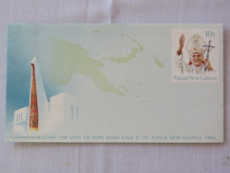 Papua New Guinea 1984 Unused Stationery Cover - Pope John Paul II - Papua-Neuguinea