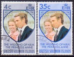 BRITISH SOLOMON ISLANDS 1973 SG #245-46 Compl.set Used Royal Wedding - British Solomon Islands (...-1978)