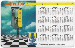 Sri Lanka - Lanka Pay Phones (GPT) - Calendar 1997 - 31SRLB - 100Rs, Used - Sri Lanka (Ceylon)