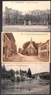 Saint-Hubert - Lot 3 Cartes Ecole De Bienfaisance, Fontaine Eglise St Gilles - Saint-Hubert