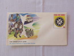 Papua New Guinea 1986 Unused Stationery Cover - Order Of St. John - Ambulance Rescue - Malta Cross - Papua-Neuguinea