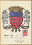 Carte Maximum  1er Jour   FRANCE     Armoiries  D' AMIENS     1962 - Cartes-Maximum