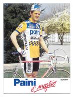 CARTE CYCLISME SCREMIN TEAM PAINI 1987 - Cyclisme