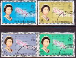BRITISH SOLOMON ISLANDS 1974 SG #250-53 Compl.set Used Royal Visit - British Solomon Islands (...-1978)