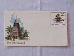 Papua New Guinea 1990 Unused Stationery Cover - East Sepik Province - Arms - House Or Church - Shark - Papua-Neuguinea