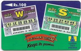 Sri Lanka - Lanka Pay Phones (GPT) - Development Lottery - 36SRLB (Normal Zero 0), 100Rs, Used - Sri Lanka (Ceylon)
