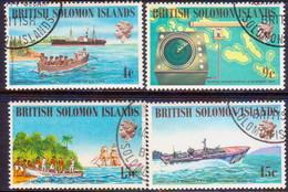 BRITISH SOLOMON ISLANDS 1974 SG #254-57 Compl.set Used Ships And Navigators (4th Series) - British Solomon Islands (...-1978)