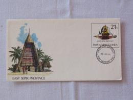 Papua New Guinea 1991 FDC Stationery Cover - East Sepik Province - Arms - House Or Church - Shark - Papua-Neuguinea