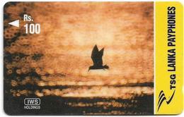 Sri Lanka - Lanka Pay Phones (GPT) - Flying Bird At Sunset - 44SRLF  (Normal Zero 0), 100Rs, Used - Sri Lanka (Ceylon)