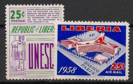 Liberia - 1959 - N°Yv. 362 + PA 117 - UNESCO - Neuf Luxe ** / MNH / Postfrisch - Liberia