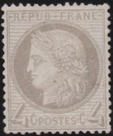 France  .   Yvert   .     52  ( 2 Scans)      .       (*)         .    Pas De Gomme  .    /   .   No Gum - 1871-1875 Cérès