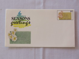 Papua New Guinea 1991 Unused Stationery Cover - Greetings - Flowers - Papua-Neuguinea