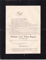 VILLA CANNE ST-PIERRE LEZ MAESTRICHT MEERSEN Amélie POLIS Veuve Petrus REGOUT  75 Ans 1904 - Overlijden