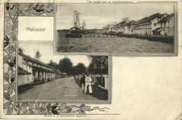 Indonesia, CELEBES SULAWESI MAKASSAR, Street Scene, Quay (1903) Postcard - Indonesië