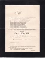 MAESTRICHT Paul REGOUT Industriel 1859-1905 Famille STEVENS VRECKEN LHOEST - Décès
