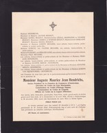 AMSTERDAM SCHEVENINGUE Auguste HENDRICHS 1834-1916 Ancien Président Chambre De Commerce Famille REGOUT - Overlijden