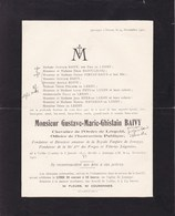 TAILFER LUSTIN JEMEPPE SUR MEUSE Gustave BAIVY 1842-1921 Fondateur Fanfares JEMEPPE Forges Et Tôleries Liégeoises - Overlijden