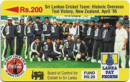 Sri Lanka - Lanka Pay Phones (GPT) - Sri Lankan Cricket Team - 14SRLB - 200Rs, Used - Sri Lanka (Ceylon)