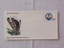 Papua New Guinea 1995 Unused Stationery Cover - Sandaun Province - Arms - Animal Kangaroo - Papua-Neuguinea