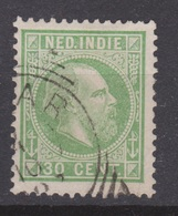 Nederlands Indie 14 Used ; Koning King Roy Rey Willem III 1870 NETHERLANDS INDIES P/PIECE - Nederlands-Indië