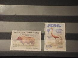 DOMINICANA - P.A. 1978 ANIMALI 2  VALORI -  NUOVI(++) - Repubblica Domenicana