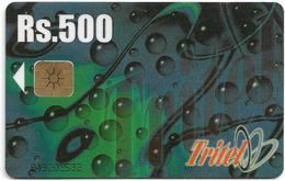 Sri Lanka - Tritel (Chip) - Abstract Design (black CN), 500Rs, Used - Sri Lanka (Ceylon)