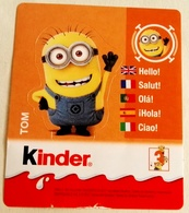 Kinder, Le Minion, Tom Sticker, Kinder, The Minion, Tom Sticker - Pegatinas