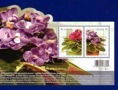 Canada 2010 Flower African Violets Souvenir Sheet (#2376) MNH ! - 1952-.... Reinado De Elizabeth II