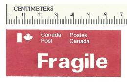 B55-18 CANADA FRAGILE Label Etiquette 1976 Type 57 MNH - Viñetas Locales Y Privadas