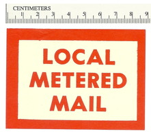 B55-20 CANADA Local Metered Mail Postal Label MNG - Viñetas Locales Y Privadas