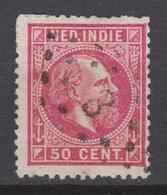 Nederlands Indie Nr 15 TOP CANCEL SOERABAJA 3 ; Koning King Roi Rey Willem III 1870 Netherlands Indies PER PIECE - Nederlands-Indië